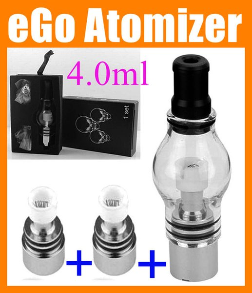 Glass Globe atomizer Wax Dry Herb atomizer Vaporizer Vape Pen Clearomizer for 510 eGo T battery ATB004