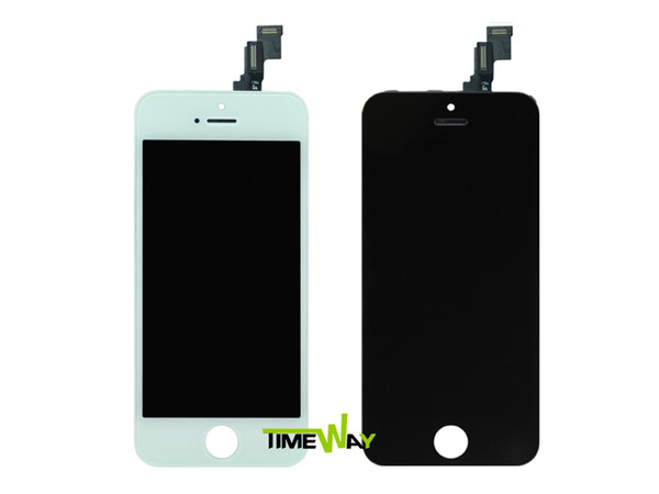 Wholesale-100% Guarantee LCD Screen for iPhone 5C Display with touch screen digitizer Full set Assembly Black/White Free shipping
