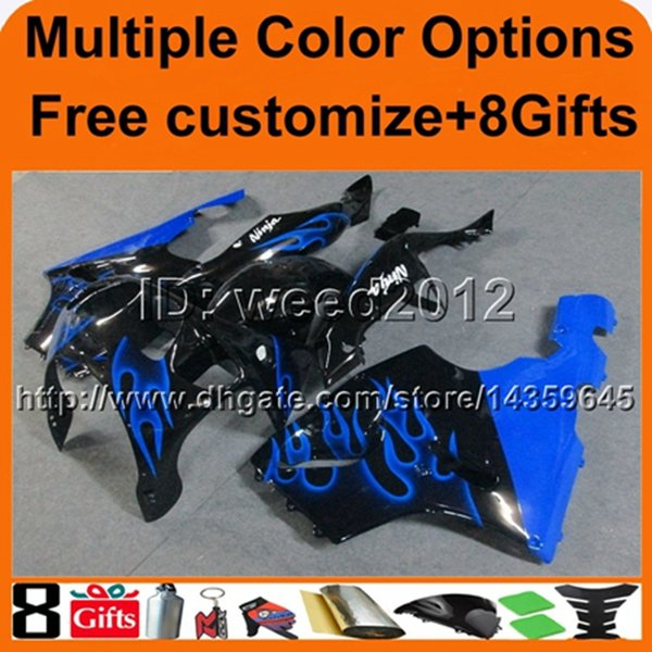 23colors+8Gifts BLUE motorcycle cowl For Kawasaki zx7r 97 98 99 00 01 02 03 ZX 7R 1997 1998 1999 2000 2001 2002 2003 ABS Plastic Fairing