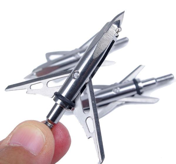 Envío gratuito Venta caliente Venta caliente Flechas de tiro con arco de plata 2-Blade Broadhead Tip 2