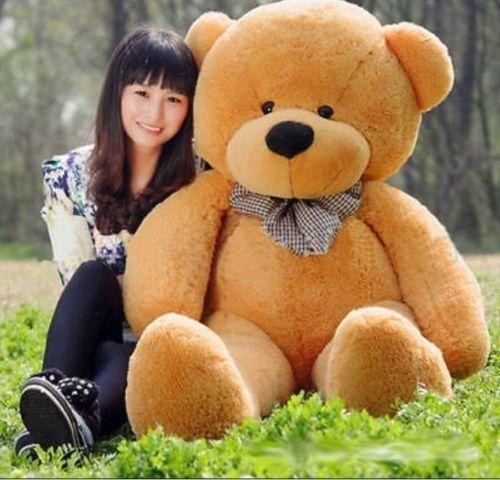 60CM géant énorme gros brun peluche ours en peluche doux jouets poupée cadeau animal en peluche