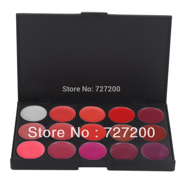2014 Fashion Special Hot Sale 15 Color Pro Cosmetic Makeup Lip Care Facial Beauty Gloss Lipstick Palette Set#25508