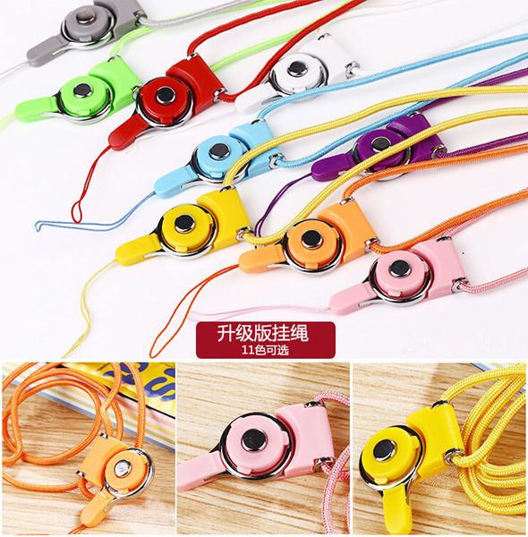 Destacável cordão sling anel de dedo para telefone celular pescoço moda corda de suspensão universal corda de cabo trançado de nylon para iphone 6 case capa cartão