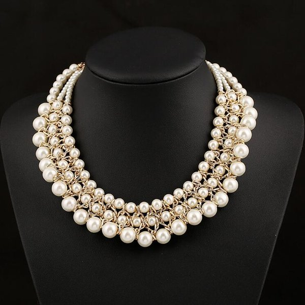 Wholesale Pearl Necklace 45CM Luxury Beaded Wedding Necklace for