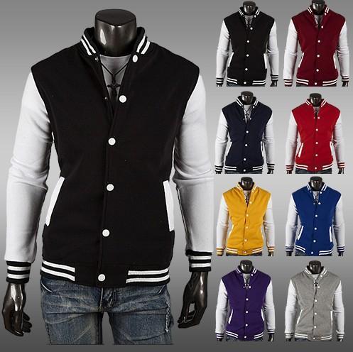 Herbst-Fashion Boutique Herrenbekleidung! Kostenloser Versand NWT Varsity Letterman College Baseball BAUMWOLLE JACKE Herrenbekleidung Mäntel