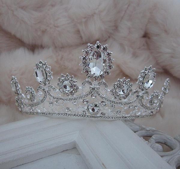 NOVITÀ Luxury Royal princess Red diamond strass Wedding Crowns Velo da sposa Tiara Crown Fascia per le prestazioni delle corone NM77