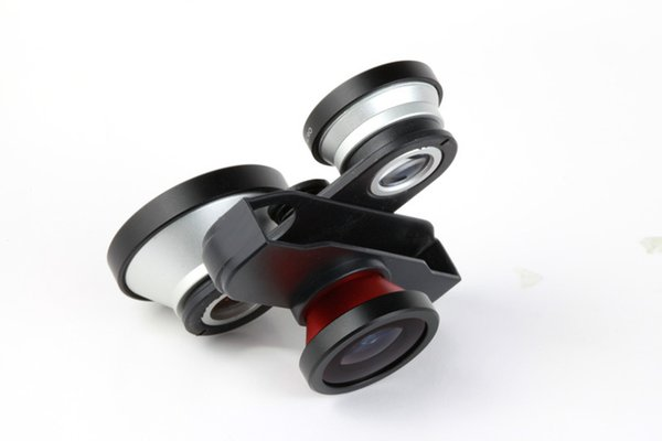 Wholesale-FREE SHIPPING 4IN1 front and back fisheye lens+0.4x super wide angle lens+macro for iphone 5