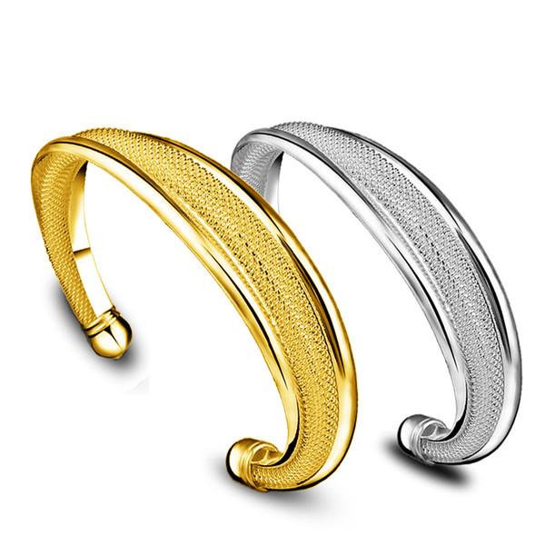 I braccialetti d'argento del braccialetto di alta qualità 925 per le donne HOT 18K placcato oro incanta i braccialetti il regalo di Natale dei monili 20pcs / lot