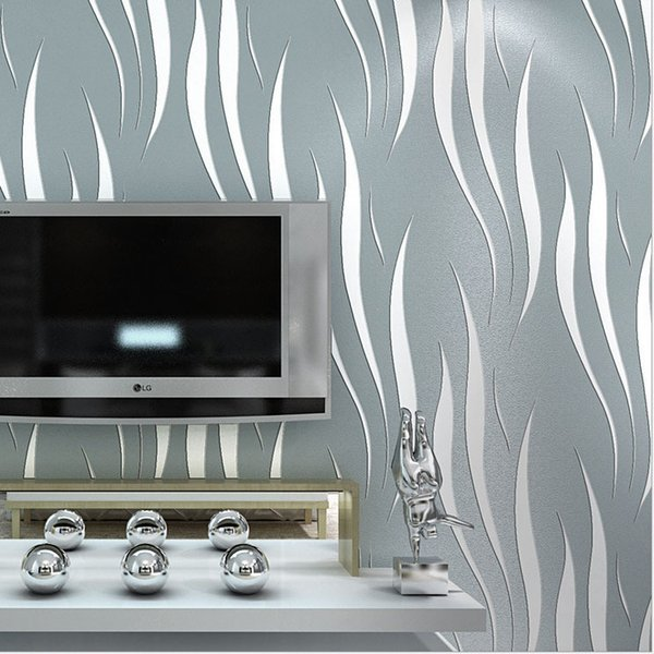 Abstract Fish Southeast Asia Non-woven Wallpaper Wall Paper for Bedroom Papel De Parede Listrado Adesivo Wallpaper