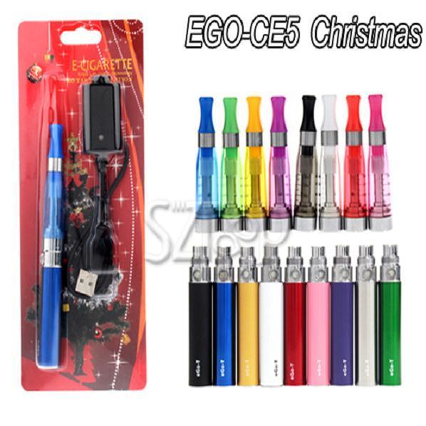 EGO-T Battery CE5 Atomizer Christmas EGO Electronic Cigarette Blister Kit 650mah 900mah 1100mah Battery Electronic Cigarette kit DHL 0209009