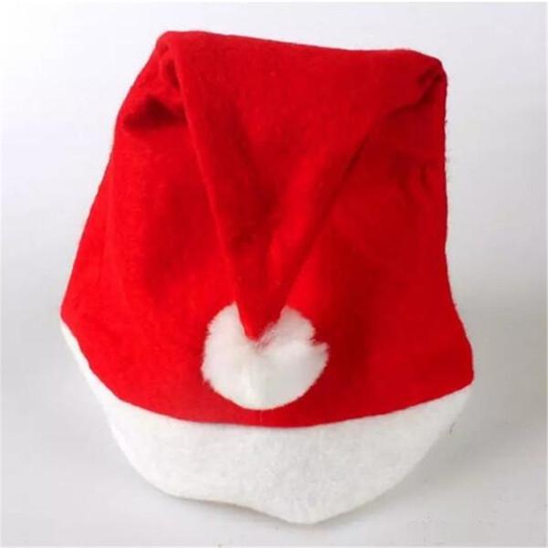 1000pcs New Christmas Supplies Cap Thick Ultra Soft Plush Santa Claus Christmas Party Hats 30*40cm Christmas Cap Santa Caus Hat 20171031