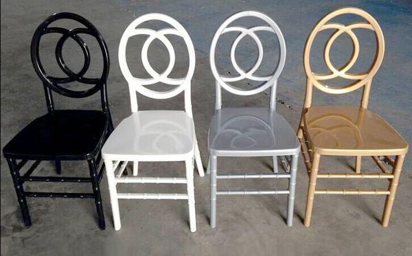 Reçine phoenix sandalye, istiflenebilir düğün sandalye, altın, gümüş, beyaz plastik ziyafet sandalye