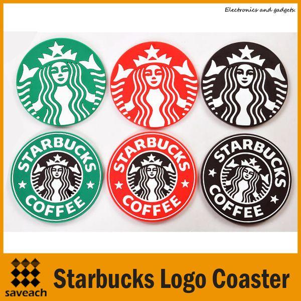 Table decoration Starbucks logo Mermaid silicone coaster round platemat cup coffee mug mat pad black red green Free shipping