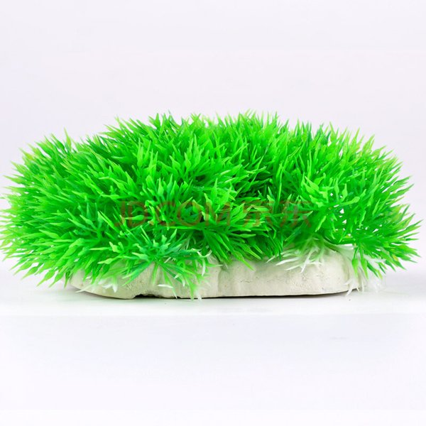 Simulation Aquatic Plants Fish Tank Ornament Artificial Aquatic Green Small Hill 18*7.5cm 100pcs