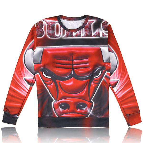 Acheter Raisevern New Mens Red Bull Print Sweat Automne Hommes Occasionnels Hoodies 3D Bulls Logo Lettre Imprimée Chandails Ras Du Cou Wholesales De