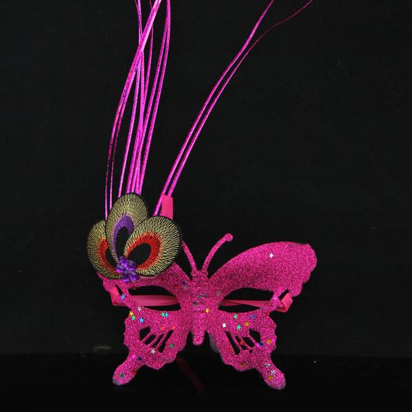 Farbe Schmetterling Prinzessin Party Maske Pulver Dekor Weihnachten Masquerade Club Maske Lady favors Performance Props SD993