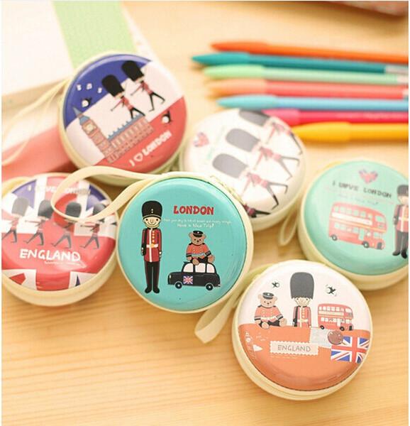 200pcs/lot* Cute Mini Zipper Earphone Box Coin Bag Headphone Carrying Pouch Storage Case For Kids Gift