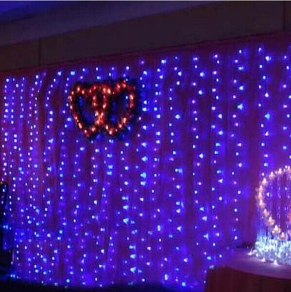 8 Flash Modes 1280 LED Bulbs/lights 10*4m Curtain Lights,Christmas ornament Icicle light,Flash Colored Fairy wedding Decoration