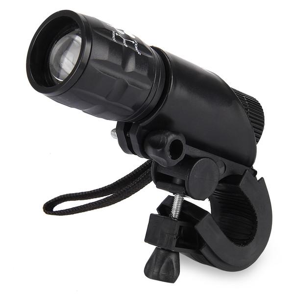 Wasserdichte 3W 140lm 3 Modi LED-Fahrradlicht Zoomable Taschenlampe mit Taschenlampenhalter HOT + B