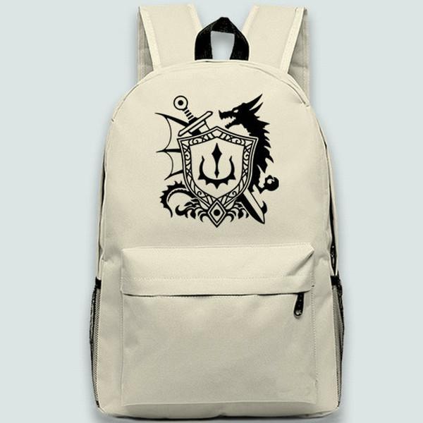 Dragon Quest backpack Heraldic shield daypack Doragon Kuesuto schoolbag Game rucksack Sport school bag Outdoor day pack