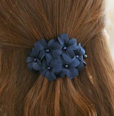 Venta caliente Clásico Coreano Moda Margarita Floral Accesorios para el cabello Paño de la flor de pelo Horquilla para las mujeres DHF434