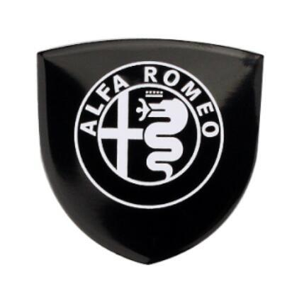 Aluminum alloy Car Sticker Car Motorsport Label Emblem Badge car styling 35x34mm Alfa Romeo