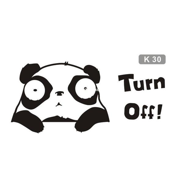100pcs Panda daze switch stickers cartoon bedroom living room wall stickers self-adhesive socket switch posts k30