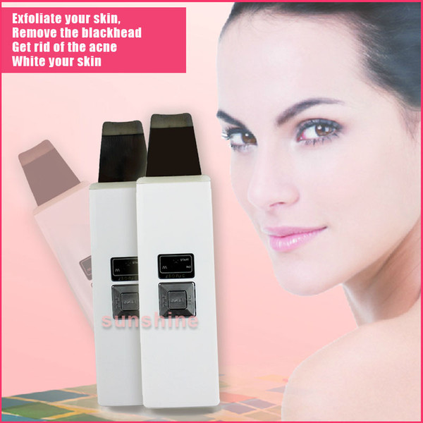 Rechargeable ultrasonic skin scrubber Face Pore Cleaning Brush Anti Acne Blackhead Remover Skin Care Massager Cleaner Machine