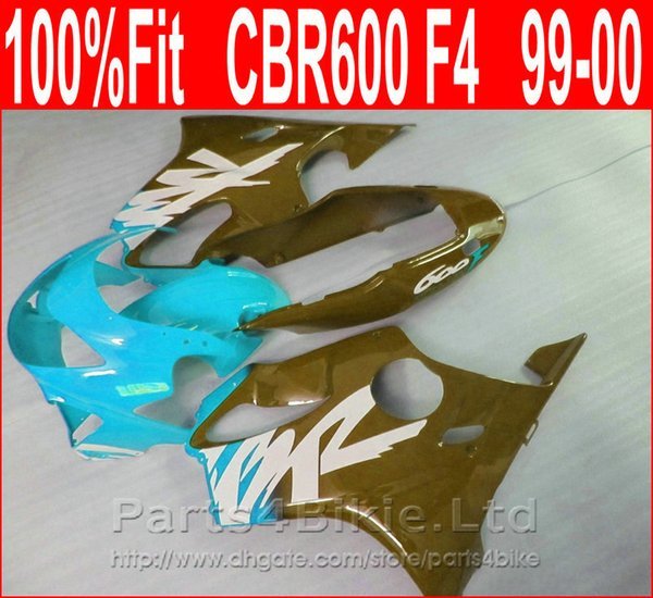 Brand Brown blue Body parts Fitment for Honda CBR 600 F4 custom fairings 1999 2000 fairing kit CBR600 F4 99 00 XRNI