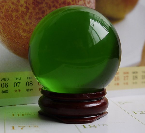 HOT 40MM+stand Natural Green Obsidian Sphere Large Crystal Ball Healing Stone HOT