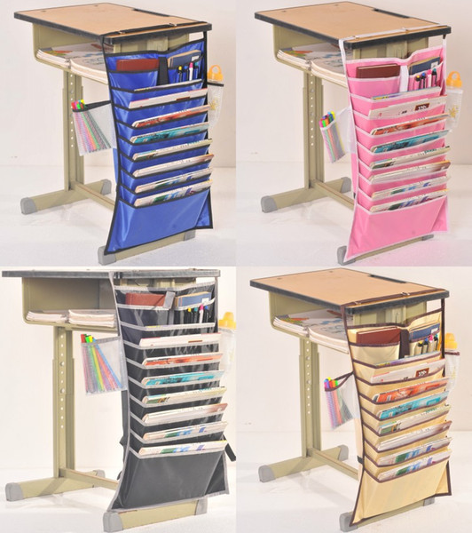 Adjustable Stationery Organizer Multi Function Thicken Pouch For Students Classroom Desk Hanging Books Files Pen Storage Bags New 12 74zy CB