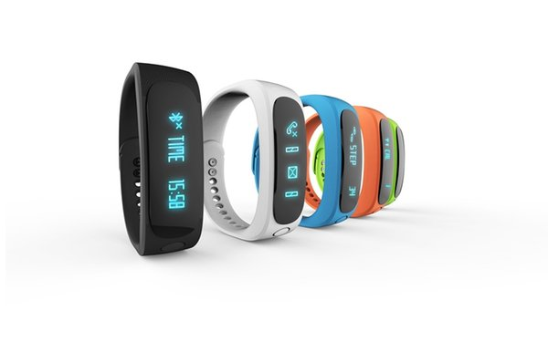 Free DHL Smart Wrist Watch E02 Smartband Waterproof Bluetooth Fitness Tracker Health Bracelet Sports Wristband Gear Fit For Android IOS