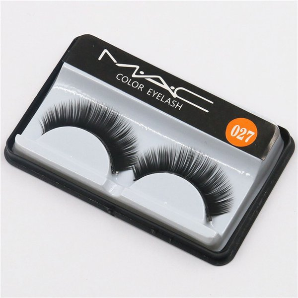 top popular Hot Brand False Eyelashes Handmade Natural Long Curl Thick Soft Fake Eye Lash Extensions Flair Black Color Eyelash Terrier Strip Lashes 027 2020