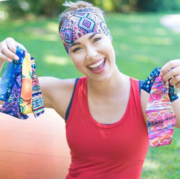 2016 Новое прибытие Lady Sport Good Qualtiy Headbands Strecth Headwear умывания лица Йога Бег Headwear 16 Мути-краски для волос Аксессуары I6732