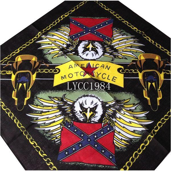 Wholesale American Motorcycle bandana confederate rebel flag bandanas civil war battle bandana headwrap free shipping