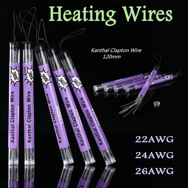 Sigarette Clapton Wire E Sigarette termiche Tubi prefabbricati per controllo della temperatura della confezione tubi 22AWG 24AWG 26AWG Bobine fai-da-te confezionate singolarmente