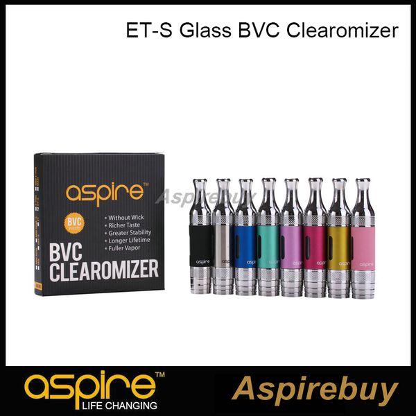 100% authentische Aspire ET-S BVC Glas Clearomizer BVC Tankboden Vertical Coil Tank Dual Coils Zerstäuber