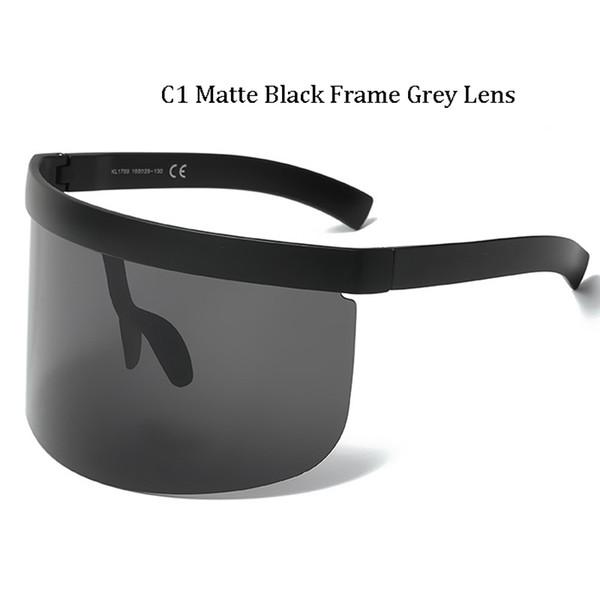 C1 Matte Black Frame Grey Lens