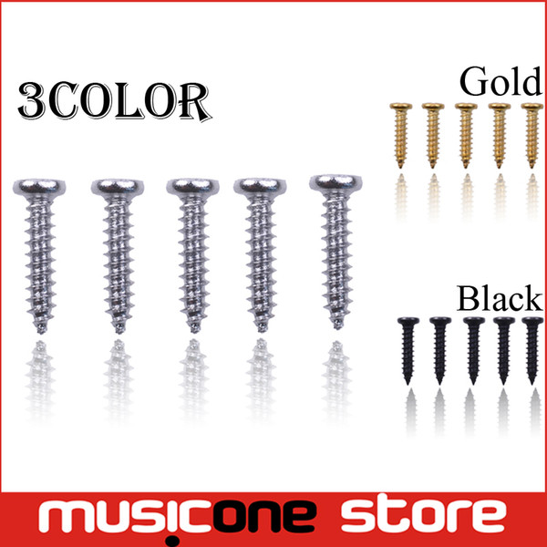 best selling 200pcs Wholesale Acoustic Electric Guitar Tuning Pegs Screws Bass Guitar Machine Heads Mounting screws Chrome Black Gold for Choose MU1292
