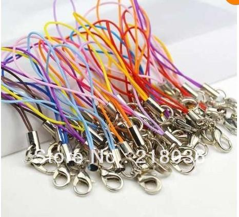 Wholesale 200pcs Mix Color Optional Cell Phone Cord Strap Lariat Lanyard For Keys Car Bag Key Ring Handbag Couple Key Chains Girls M2029