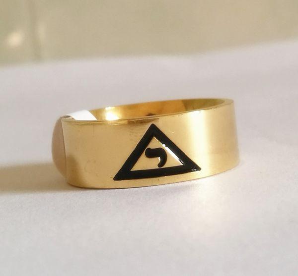 Alta Qualidade de Ouro de Prata Em Aço Inoxidável 14 grau Rito Yod anel Escocês Anéis de Sinete Maçônica dentro com VIRTUS JUNXIT MORS NON SEPARABIT