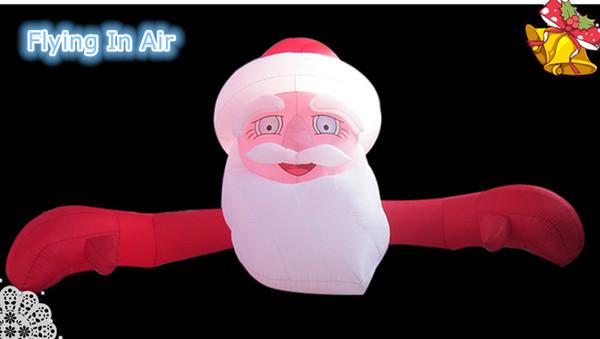 Arco inflable plano de Santa de los 5m * 3m para la decoración del regalo de Navidad