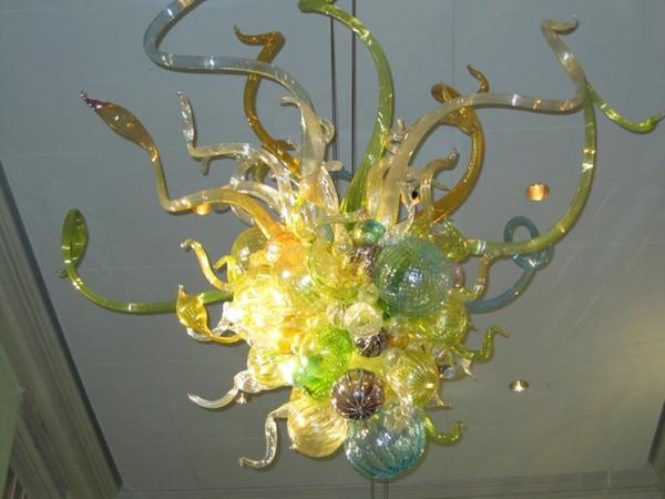 Livraison Gratuite LED Ampoules Chinois Moderne En Verre De Murano Mini Couloir Pas Cher En Cristal Moderne Art Déco Lustre