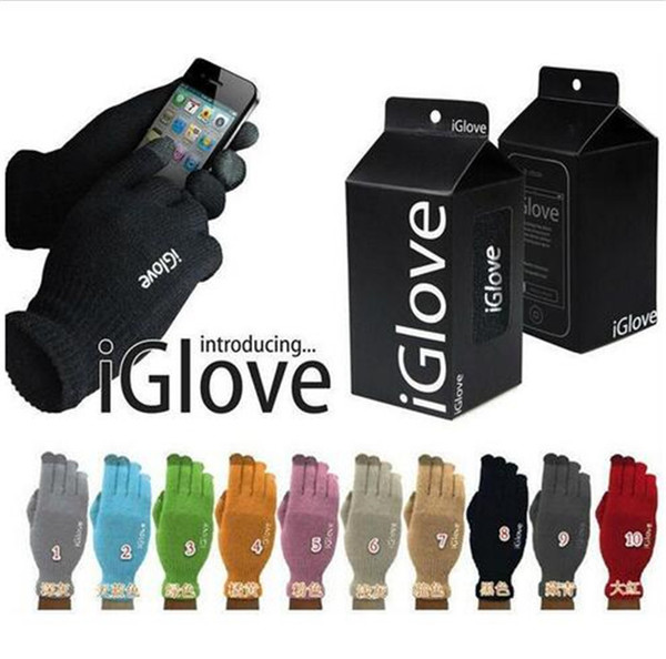 top quality 10 colors retail bag Multi purpose Unisex iGlove Capacitive Screen Gloves For iPhone 6S iphone 6 HTC ipad iGloves Gloves D540