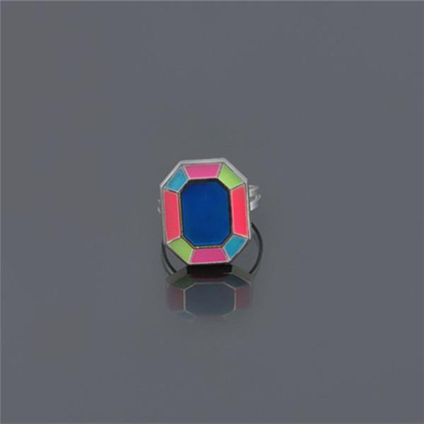 Mood Rings wholesale 100pcs lot Smart Rings The Magic Ring Fluorescent Gem Geometry Ring Intelligent color Creative Ring Lovers Love Gift!!!