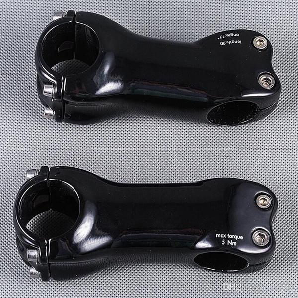 31.8mm UD Parlak Tam Karbon Fiber Bisiklet Kök Yol / MTB Dağ Bisiklet Bisiklet Parçaları Açı 6/17 Derece