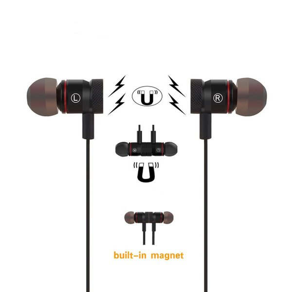 M9 Magnet Sport Wireless Bluetooth Earphones CSR 4.1 Stereo Noise Reduction Sweatproof Running Headset Headphones with MIC for Cell Phones