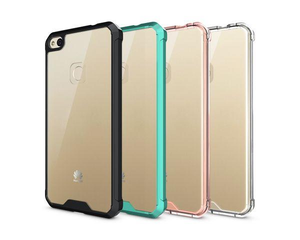 rivenditore all'ingrosso 0625d 94127 Custodia P8 Huawei Huawei P8 Lite 2017 / P10 Lite Case Soft TPU Bumper +  Clear Hybrid Back Cover Case Huawei P8lite 2017 / P10 Lite Custodia  Cellulare ...