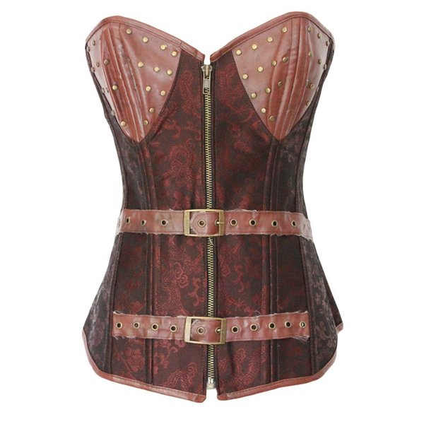 Plus Size Waist Training Corsets Body sculpting clothing Femme Brown Corset Bustino Women Corselet Overbust