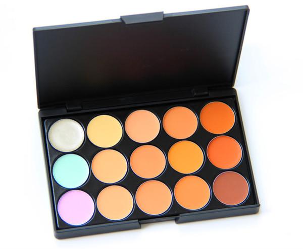 Professional 15 colors Concealer Palette contour palette Face Cream Care Camouflage Makeup base Cosmetics 1PCS Free Shipping